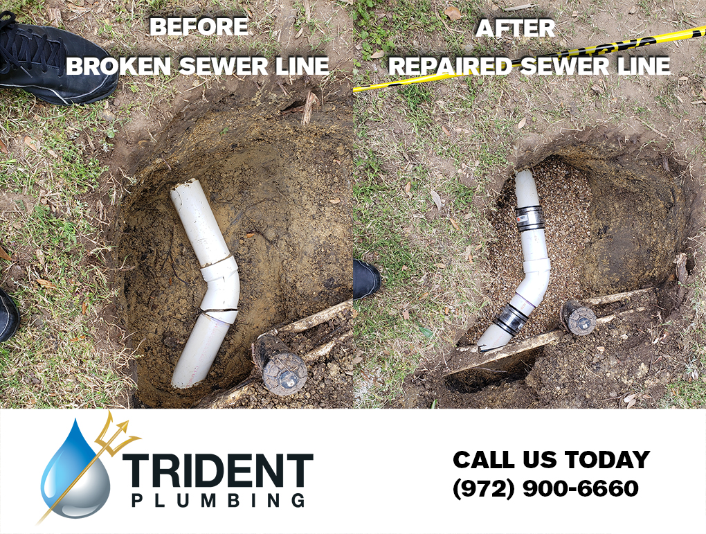 In ground sewer line repair photo