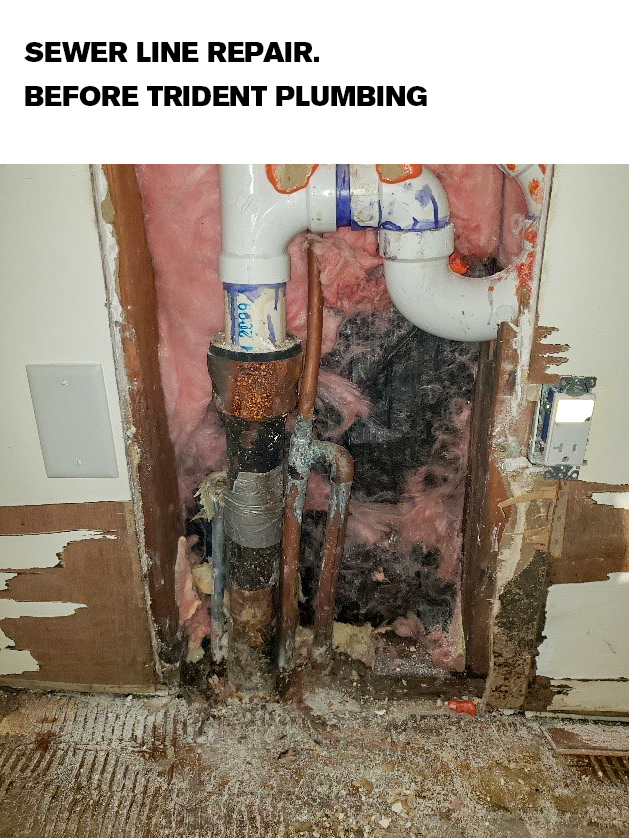 Water line replacement photo