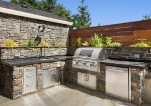 Outdoor Grill installation trident Plumbing Photo