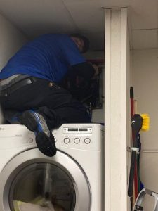 Laundry Room Pipes Installation